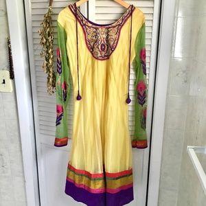 {Indian Kurti Tunic} Colorful Embroidered Dress, 8